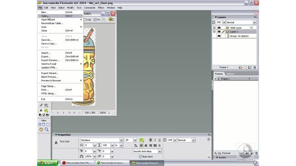 review of tools and interface: Studio MX 2004 Web Workflow