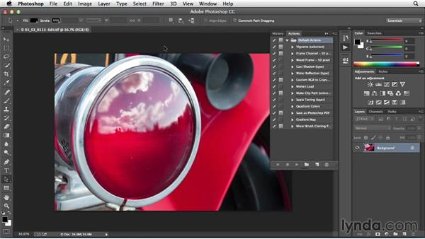 Creating a Photoshop action to use with Lightroom: Sharing Photos Online with Lightroom 5