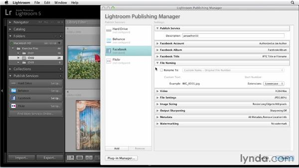Setting up a Lightroom-to-Facebook Publish Service: Sharing Photos Online with Lightroom 5