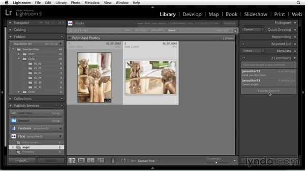 Publishing photos from Lightroom to Flickr: Sharing Photos Online with Lightroom 5