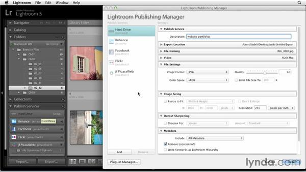 Setting up a hard drive Publish Service: Sharing Photos Online with Lightroom 5