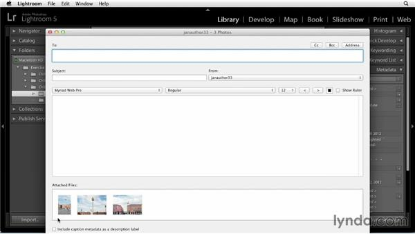 Emailing photos directly from Lightroom: Sharing Photos Online with Lightroom 5
