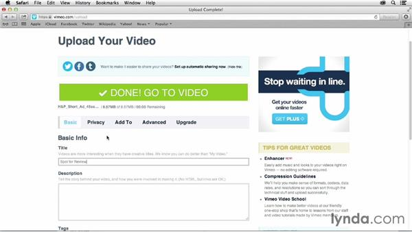 Vimeo during the production and review process: Vimeo Projects for Creative Professionals