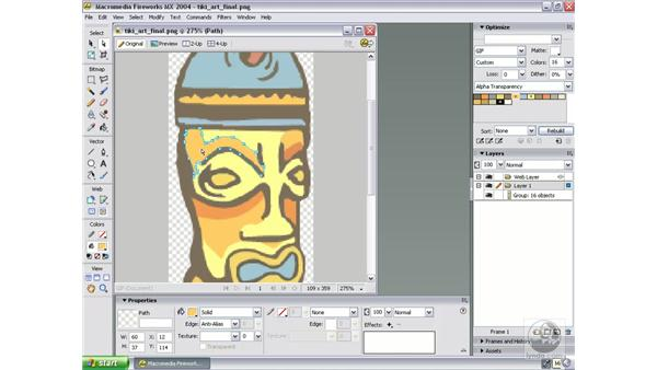 examine final tiki art: Studio MX 2004 Web Workflow