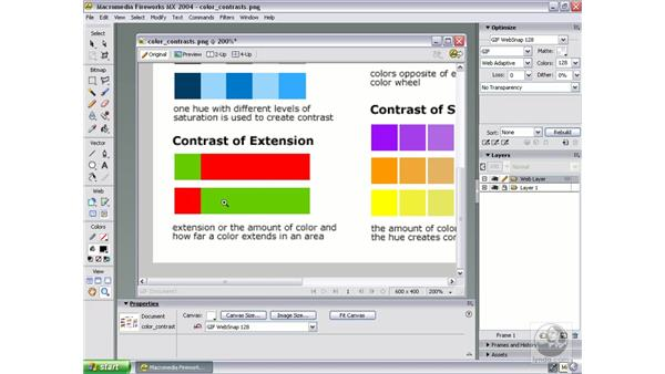 johannes itten's theory of the seven color contrasts: Studio MX 2004 Web Workflow