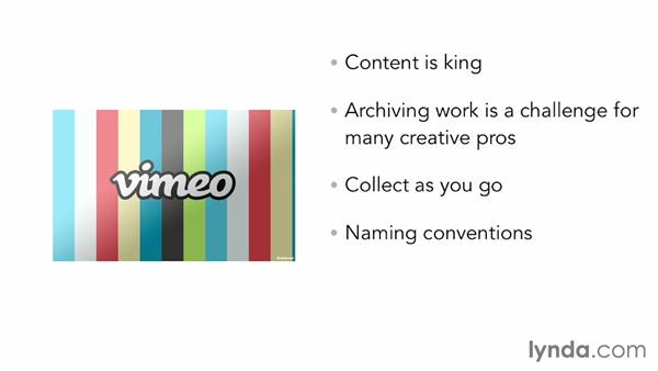 Preparing and organizing work samples: Vimeo Projects for Creative Professionals