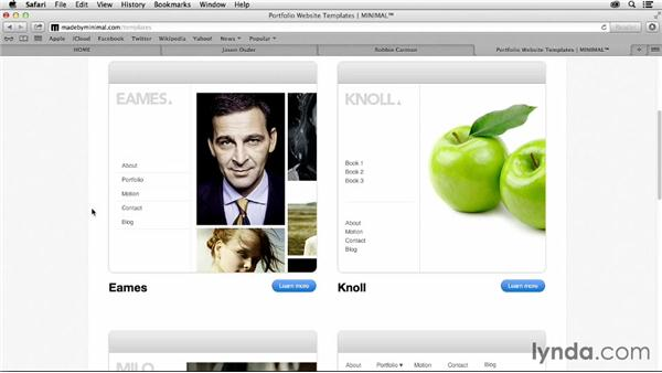 Working with templates and themes: Vimeo Projects for Creative Professionals