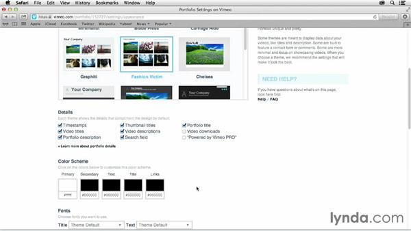 Using Vimeo PRO video portfolios: Vimeo Projects for Creative Professionals