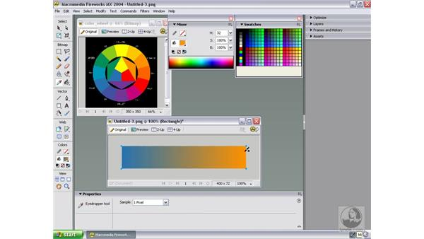 create/export color palettes based on itten's theory: Studio MX 2004 Web Workflow