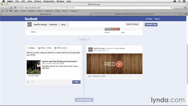 Integrating Vimeo with Facebook and Twitter: Vimeo Projects for Creative Professionals