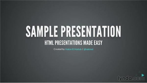 Changing transition styles: Online Presentations with reveal.js