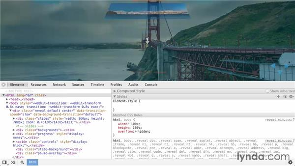 Customizing themes with the data state: Online Presentations with reveal.js