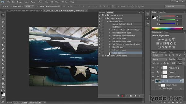 Creating custom actions: Up and Running with Photoshop Automation