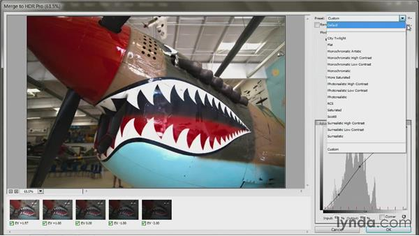 Create high-dynamic-range images with Merge to HDR Pro: Up and Running with Photoshop Automation