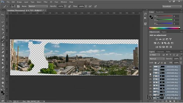 Photo merging: Up and Running with Photoshop Automation
