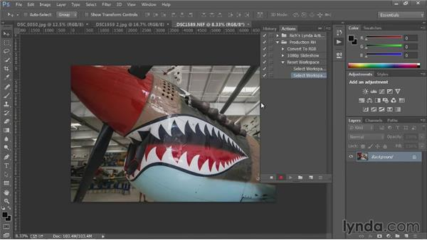 Setting event-based scripts: Up and Running with Photoshop Automation