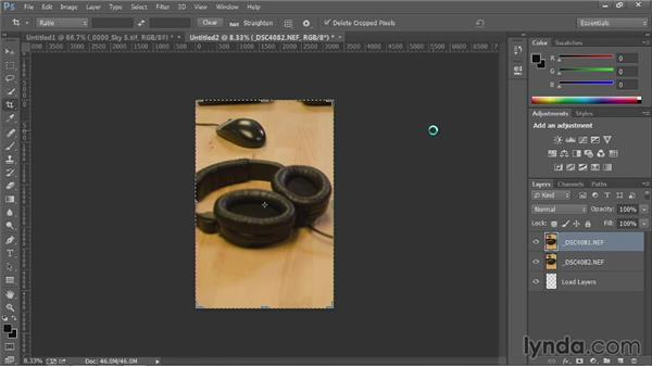 Load multiple files into a stack: Up and Running with Photoshop Automation