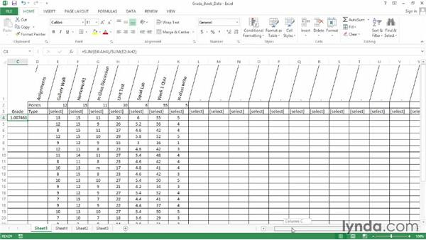 Writing the grade calculation functions: Office for Educators