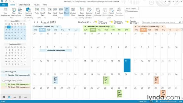 Creating calendars by class: Office for Educators