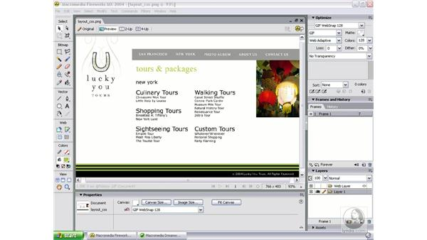 introduce exercise: Studio MX 2004 Web Workflow