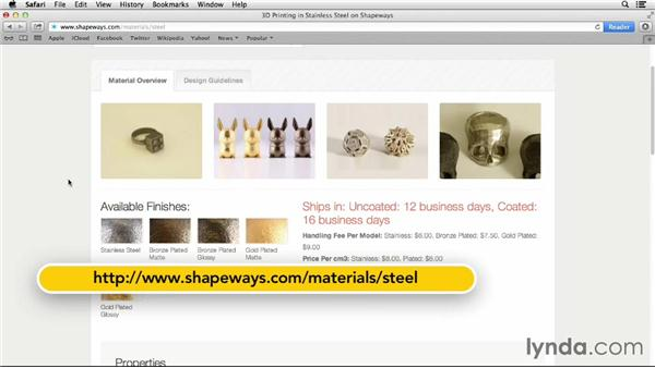 Understanding material options on Shapeways: 3D Printing on Shapeways Using Maya