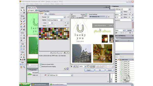 slice and export: Studio MX 2004 Web Workflow