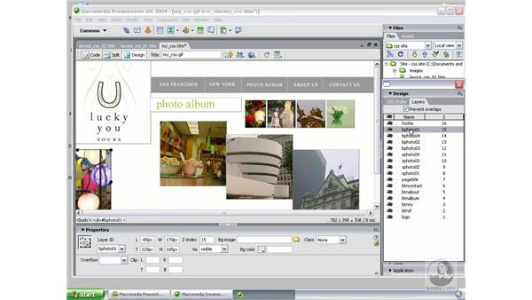 redesign in Dreamweaver: Studio MX 2004 Web Workflow