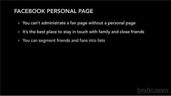 Your Facebook personal page: Facebook for Musicians and Bands