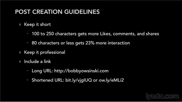 Post-creation guidelines: Facebook for Musicians and Bands
