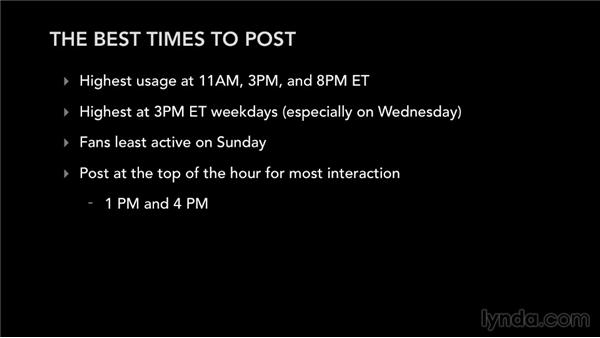 The best time to post: Facebook for Musicians and Bands