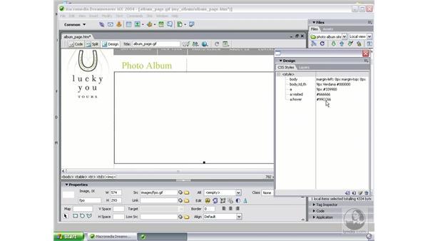 prepare template in Dreamweaver: Studio MX 2004 Web Workflow