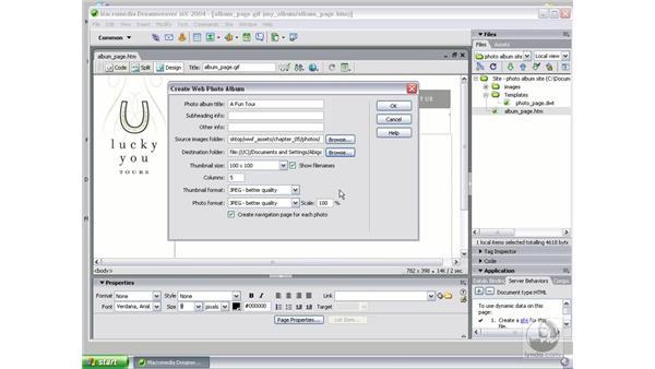 create album part 1: Studio MX 2004 Web Workflow