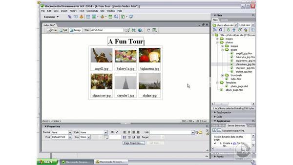create album part 2: Studio MX 2004 Web Workflow