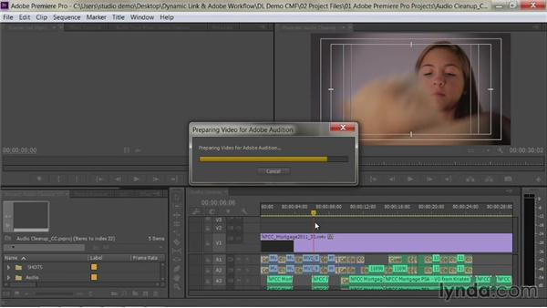 Edit a sequence in Audition: Premiere Pro Guru: Dynamic Link and the Adobe Workflow