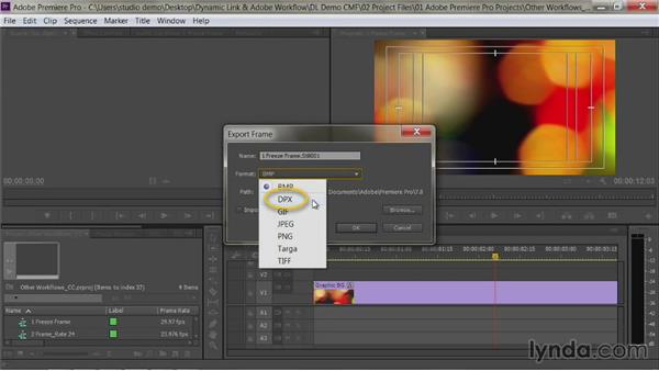 Freeze frames and Premiere Pro projects: Premiere Pro Guru: Dynamic Link and the Adobe Workflow