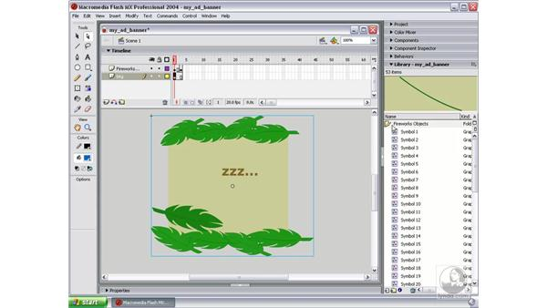 begin movie layout in Flash: Studio MX 2004 Web Workflow