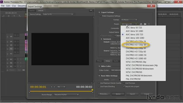 The final export: Premiere Pro Guru: Dynamic Link and the Adobe Workflow