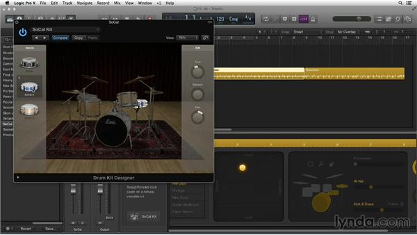 Building pro drum tracks with Drum Kit Designer and the Producer Kits: New Ways to Create Music with Logic Pro X