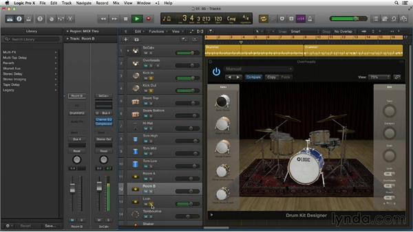 Refining the sound of Producer Kits in the Edit panel: New Ways to Create Music with Logic Pro X