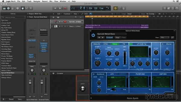 Old-school tweaking with Retro Synth: New Ways to Create Music with Logic Pro X