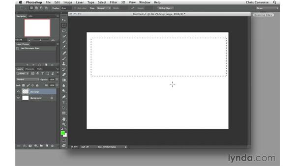 Creating clipping areas: Design the Web: Multiple Graphic Sizes
