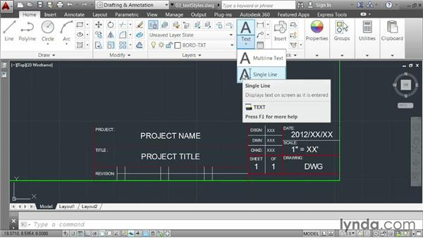 Controlling appearance using styles: AutoCAD 2014 Essentials: 04 Annotating a Drawing