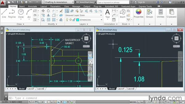 Demo: Annotating drawing: AutoCAD 2014 Essentials: 04 Annotating a Drawing