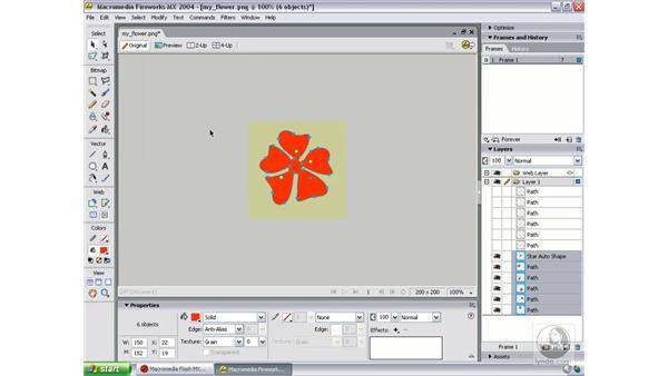 tweak flower art in Fireworks: Studio MX 2004 Web Workflow