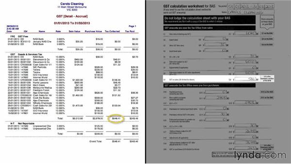 Completing the ATO calculation worksheet: MYOB AccountRight Reporting Necessities