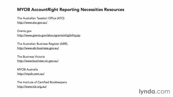 Next steps: MYOB AccountRight Reporting Necessities