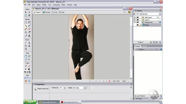 prepare art in Fireworks: Studio MX 2004 Web Workflow