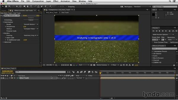 Stabilizing with Warp Stabilizer VFX: Mograph Techniques: Creating a Product Endpage