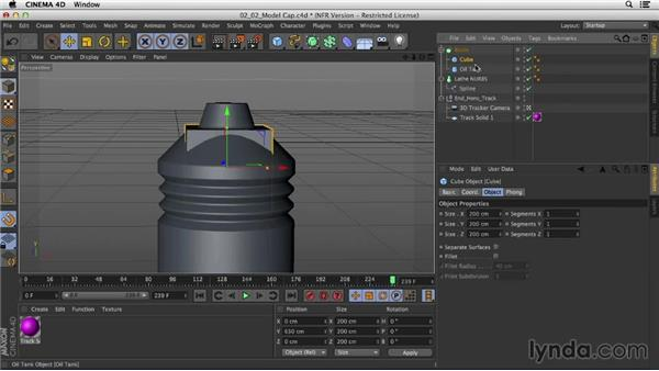 Modeling the cap: Mograph Techniques: Creating a Product Endpage