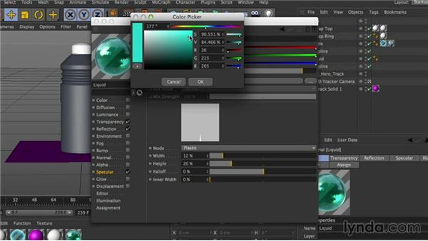Adding dimension with materials: Mograph Techniques: Creating a Product Endpage